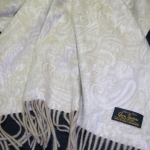 Шарф Luxury Cashmere Paisley Light Natural